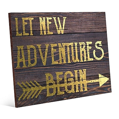 Click Wall Art Let New Adventures Begin Textual Art; 20'' H x 24'' W x 1.5'' D