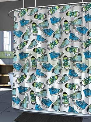Splash Home EVA Kicks Shower Curtain