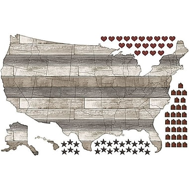 WallPops! Country Living US Map Wall Decal