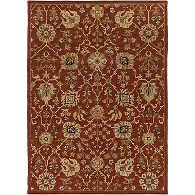 Artistic Weavers Middleton Allison Hand-Tufted Crimson/Beige Area Rug; 2' x 3'