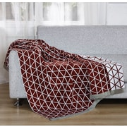 De Moocci Knitted Throw Blanket; Red