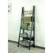 Magari 71'' Corner Unit Bookcase; Black