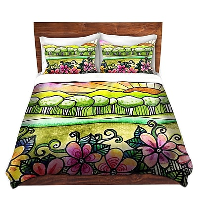 DiaNocheDesigns Bright Horizon Duvet Cover Set; King