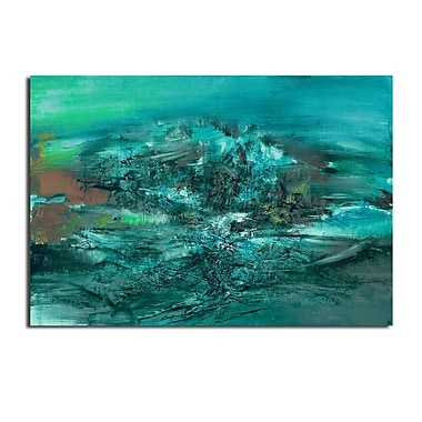 Ready2hangart 'Smash X' by Ready2HangArt Framed Painting Print on Wrapped Canvas
