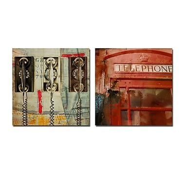 Ready2hangart 'People, Places, Things X' by Ready2HangArt 2 Piece Graphic Art on Wrapped Canvas Set