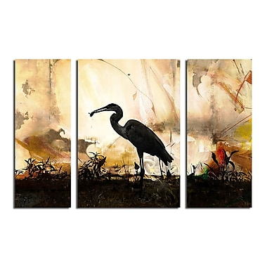 Ready2hangart 'Silouette III' by Ready2HangArt 3 Piece Painting Print on Wrapped Canvas Set