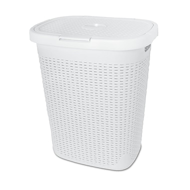 Superior Performance Bushel Laundry Hamper; White