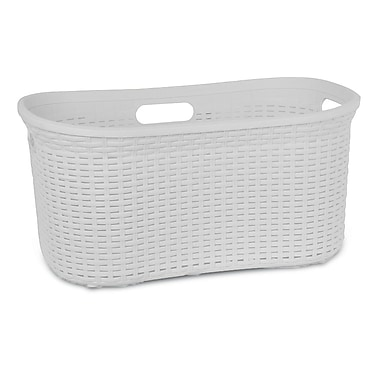 Superior Performance Bushel Laundry Basket; White