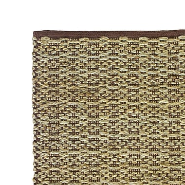 Cozy Home and Bath Hand-Woven Brown Area Rug; 5' x 8'