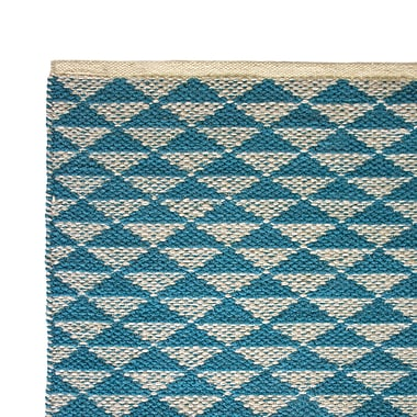 Cozy Home and Bath Hand-Woven Bristol Blue Area Rug; 2' x 3'
