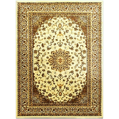 Bekmez International Inc. Super Belkis Ivory Area Rug; 7'10'' x 10'2''