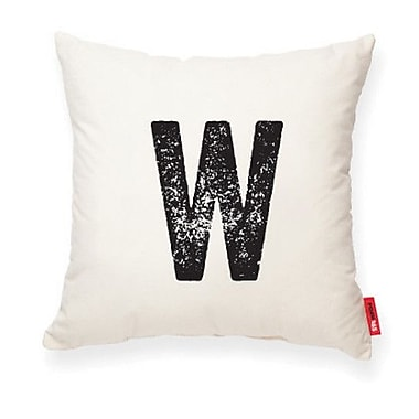 Posh365 Expressive ''W'' Decorative Pillow; Muslin