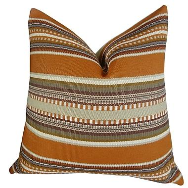 Plutus Brands Chic Stripe Handmade Throw Pillow; 12'' H x 20'' W