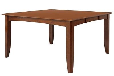 TTPFurnish Wabasca Dining Table; Saddle Brown