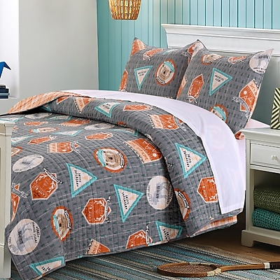 Greenland Home Fashions Camp Out Reversible Quilt Set; Full/Queen