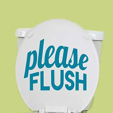 SweetumsWallDecals Please Flush Wall Decal; Teal