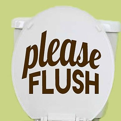 SweetumsWallDecals Please Flush Wall Decal; Brown