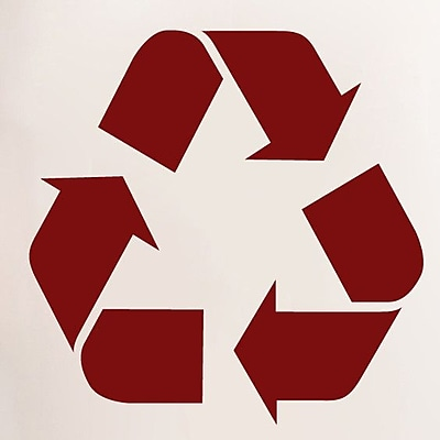 SweetumsWallDecals Recycle Symbol Wall Decal; Cranberry