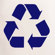 SweetumsWallDecals Recycle Symbol Wall Decal; Navy