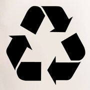 SweetumsWallDecals Recycle Symbol Wall Decal; Black
