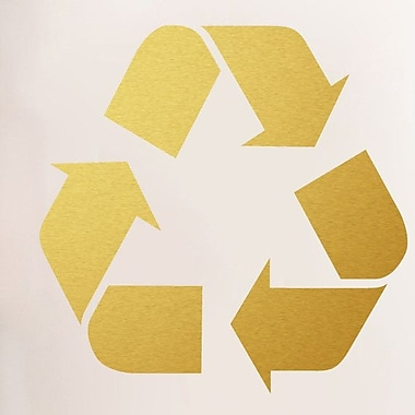SweetumsWallDecals Recycle Symbol Wall Decal; Gold