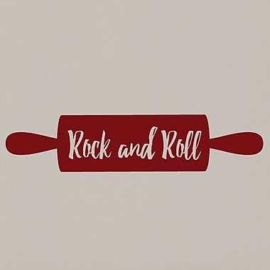 SweetumsWallDecals Rock and Roll Rolling Pin Wall Decal; Cranberry