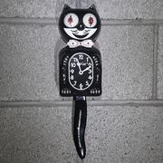 Kit-Cat Kit-Cat Male Clock w/ Bow-Tie; Black