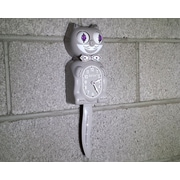 Kit-Cat Kit-Cat Male Clock w/ Bow-Tie; Gray
