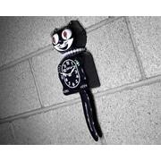 Kit-Cat Kit-Cat Lady Clock w/ Pearls; Black
