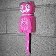 Kit-Cat Kit-Cat Lady Clock w/ Pearls; Honeysuckle Pink