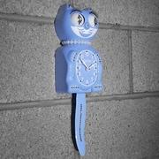Kit-Cat Kit-Cat Lady Clock w/ Pearls; Serenity Blue