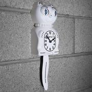 Kit-Cat Kit-Cat Lady Clock w/ Pearls; White