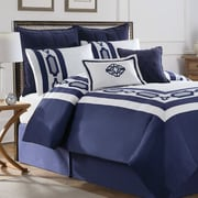 Soho New York Hotel Embroidery 8 Piece Comforter Set; King