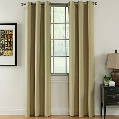 Ardor Home Indoor/Outdoor Thermal Curtain Panels (Set of 2); Gold