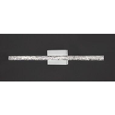 WilshireMFG Ice 1-Light Bath Bar; Brushed Stainless Steel