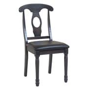 TTPFurnish Side Chair (Set of 2); Dark Gray