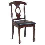 TTPFurnish Side Chair (Set of 2); Espresso