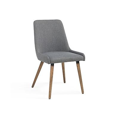 !nspire – Chaises d'appoint en tissu gris foncé et pattes grises