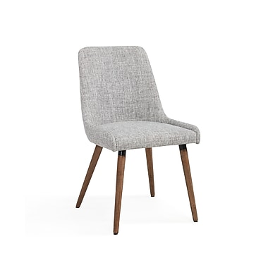 !nspire Fabric Side Chairs, Grey Legs/Light Grey Fabric