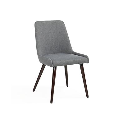 !nspire Fabric Side Chairs, Walnut Legs/Dark Grey