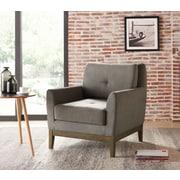 !nspire – Fauteuil en tissu à base en bois, gris