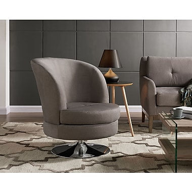 Whi Swivel Fabric Accent Chair, Grey