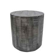 !nspire – Table d'appoint en bois de manguier solide, gris
