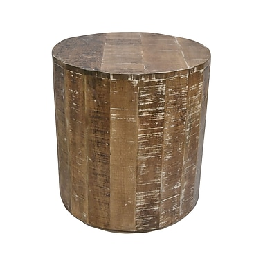 !nspire Solid Mango Wood Accent Table, Natural