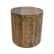 !nspire – Table d'appoint en bois de manguier solide, naturel