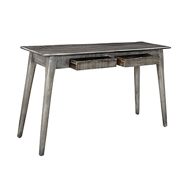 !nspire 2 Drawer Solid Mango Wood Console Table, Distressed Grey