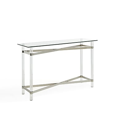!nspire Mixed Media Chrome/Glass/Acrylic Console Table