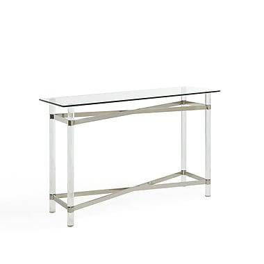 !nspire – Table console mélange de chrome, de verre et d'acrylique
