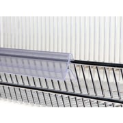 Kostklip Porte-étiquette ClearGrip pour câble universel, pince, 45 degrés, 1,25 x 47,63 po, transp, 20/paq. (251T-106384)