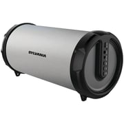 Sylvania Sp803-silver Rugged Rubber Bluetooth® Tube Speaker (silver)